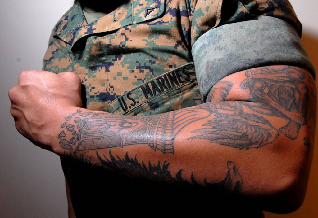 The Marine Corps may soon allow sleeve tattoos, among other ink policy changes
