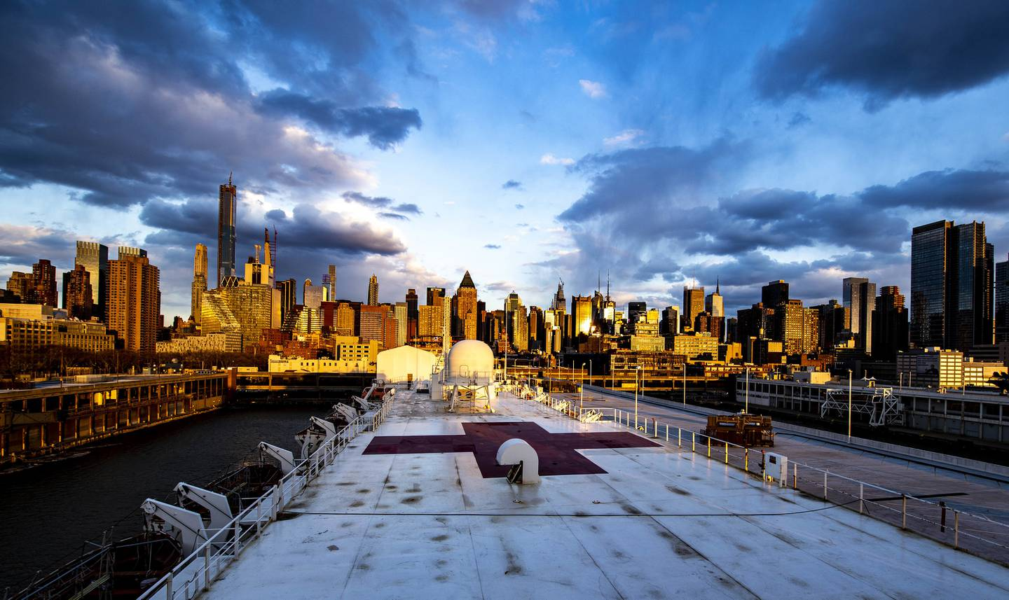 USNS Comfort in NYC