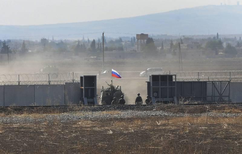 Russia-Turkey joint patrol Syria